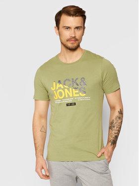 Jack&Jones Jack&Jones Tricou Slices 12188068 Verde Slim Fit