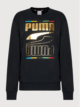 Puma Puma Bluza Rebel Crew 5 Continents 584608 Czarny Regular Fit