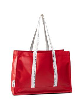 Calvin Klein Calvin Klein Kabelka Square Tote K90KW00003 Červená