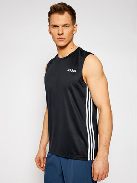 adidas adidas Φανελάκι τεχνικό Design 2 Move 3-Stripes DT3047 Μαύρο Regular Fit