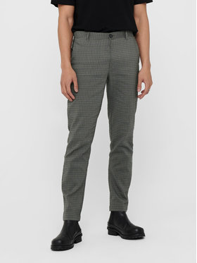 Only & Sons ONLY & SONS Pantaloni din material Elyas 22017550 Gri Slim Fit