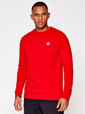 adidas adidas Sweatshirt Essentials Trefoil GN3412 Rot Regular Fit