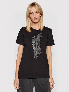 DKNY DKNY T-Shirt P02M9CNA Černá Regular Fit