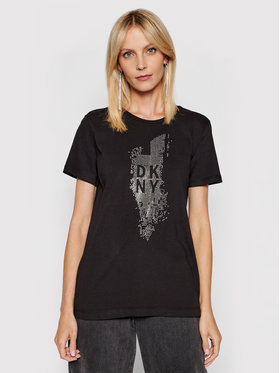 DKNY DKNY Tricou P02M9CNA Negru Regular Fit