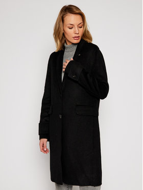 Calvin Klein Calvin Klein Gyapjú kabát Double Face Crombie K20K202323 Fekete Regular Fit