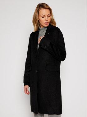 Calvin Klein Calvin Klein Płaszcz wełniany Double Face Crombie K20K202323 Czarny Regular Fit