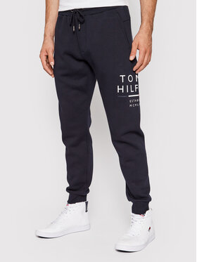 Tommy Hilfiger Tommy Hilfiger Teplákové kalhoty Wrap Around Graphic MW0MW20120 Tmavomodrá Regular Fit