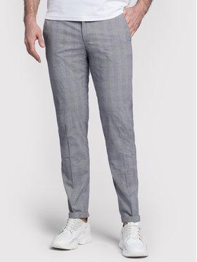 Vistula Vistula Pantaloni din material Alain Chequered XA1226 Gri Slim Fit