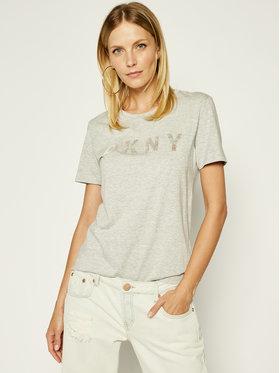 DKNY DKNY T-shirt P9BH9AHQ Grigio Regular Fit