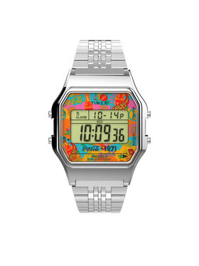 Timex Timex Zegarek T80 TW2V25900 Srebrny