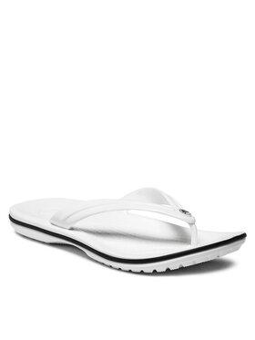 Crocs Crocs Šlepetės per pirštą Crocband Flip 11033 Balta
