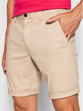 Tommy Jeans Tommy Jeans Szorty materiałowe Scanton DM0DM11076 Beżowy Slim Fit