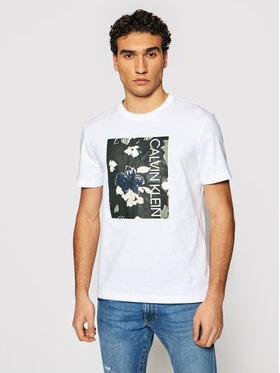 Calvin Klein Calvin Klein Marškinėliai Flower Box Print K10K106825 Balta Regular Fit