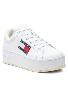 Tommy Jeans Tommy Jeans Sneakersy Flatform Flag Branding Sneaker EN0EN01504 Biały