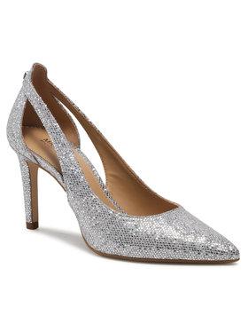 MICHAEL Michael Kors MICHAEL Michael Kors Pantofi cu toc subțire Cersei Flex Mid 40S1CSMS1D Argintiu