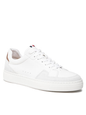 Tommy Hilfiger Tommy Hilfiger Сникърси Cupsole Sustainable Leather Mix FM0FM03830 Бял