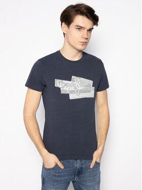 Pepe Jeans Pepe Jeans T-Shirt Bobby PM506910 Tmavomodrá Slim Fit