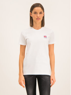 Diesel Diesel T-Shirt T-Sily-ZE 00S2NQ 0PATI 100 Bílá Regular Fit