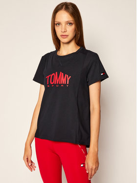 Tommy Sport Tommy Sport T-Shirt Logo S10S100658 Granatowy Regular Fit