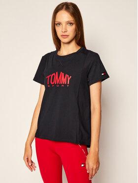 Tommy Sport Tommy Sport T-Shirt Logo S10S100658 Tmavomodrá Regular Fit