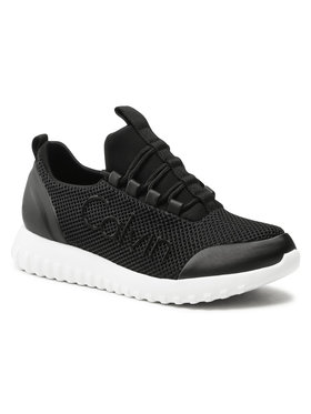Calvin Klein Jeans Calvin Klein Jeans Sneakersy Runner Sneaker Laceup Mesh YW0YW00165 Čierna