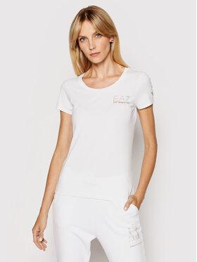 EA7 Emporio Armani EA7 Emporio Armani T-shirt 8NTT65 TJ28Z 1100 Bijela Slim Fit