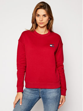 Tommy Jeans Tommy Jeans Pulóver Tjw Badge DW0DW07786 Piros Regular Fit