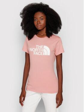 The North Face The North Face T-shirt Easy NF0A4T1Q0LA1 Rosa Regular Fit