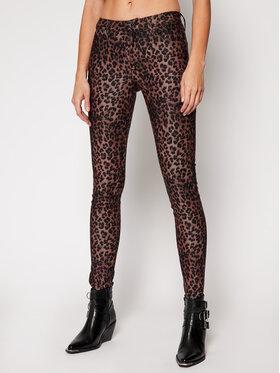 Guess Guess Kalhoty z materiálu Sexy Curve W1RAJ3 WDT11 Hnědá Skinny Fit