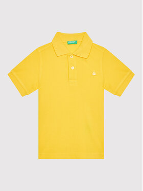 United Colors Of Benetton United Colors Of Benetton Polo 3089C3091 Żółty Regular Fit
