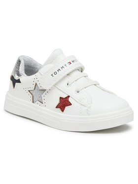 Tommy Hilfiger Tommy Hilfiger Laisvalaikio batai Low Cut Lace-Up Sneaker T1A4-31015-0619X256 S Balta