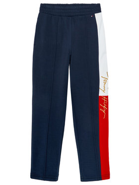 TOMMY HILFIGER TOMMY HILFIGER Текстилни панталони Icons Slim Logo KG0KG05434 D Тъмносин Slim Fit