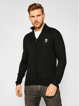 KARL LAGERFELD KARL LAGERFELD Sweatshirt Knit Zip 655047 502399 Schwarz Regular Fit