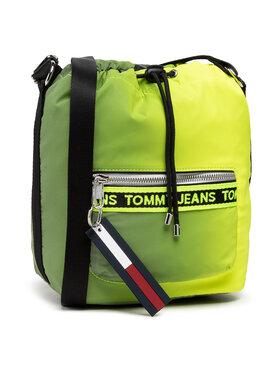 Tommy Jeans Tommy Jeans Handtasche Tjw Mini Logo Tape Bucket Rflct AW0AW10016 Grün