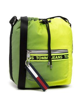 Tommy Jeans Tommy Jeans Kabelka Tjw Mini Logo Tape Bucket Rflct AW0AW10016 Zelená