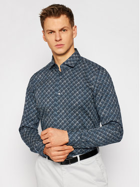 Strellson Strellson Košile 13 Stan 30023166 Tmavomodrá Slim Fit