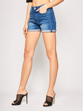 Pepe Jeans Pepe Jeans Τζιν σορτσάκια PEPE ARCHIVE Mary PL800848 Σκούρο μπλε Slim Fit