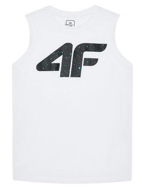 4F 4F топ JTSM011A Бял Regular Fit