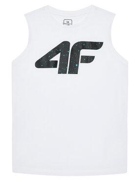 4F 4F Top JTSM011A Biały Regular Fit