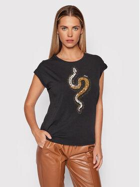Liu Jo Liu Jo T-Shirt WF1252 J5003 Černá Regular Fit