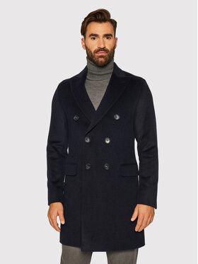 Oscar Jacobson Oscar Jacobson Vlnený kabát Sebastian 7128 9049 Tmavomodrá Regular Fit