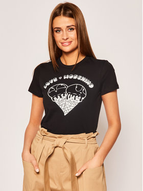 LOVE MOSCHINO LOVE MOSCHINO T-Shirt W4F7365M 3876 Schwarz Regular Fit