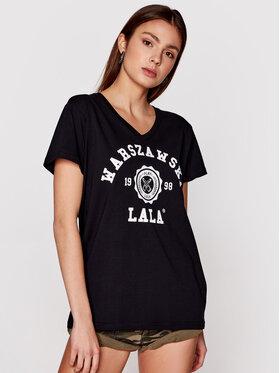 PLNY LALA PLNY LALA T-shirt Warszawska Lala PL-KO-VN-0002 Crna Relaxed Fit