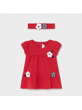 Mayoral Mayoral Každodenní šaty 1806 Červená Regular Fit