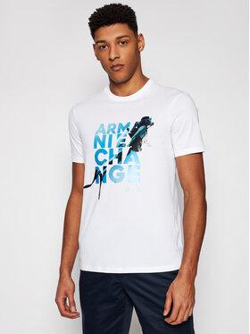 Armani Exchange Armani Exchange T-shirt 3KZTGZ ZJBVZ 1100 Bijela Regular Fit