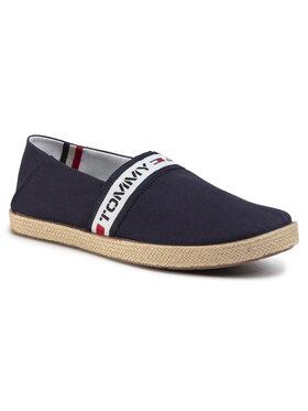 Tommy Jeans Tommy Jeans Espadrilky Tape Summer Shoe EM0EM004190 Tmavomodrá