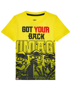 LEGO Wear LEGO Wear T-Shirt 12010097 Żółty Regular Fit