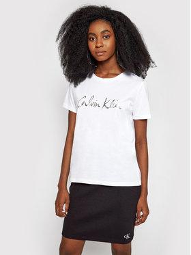 Calvin Klein Calvin Klein Marškinėliai Signature K20K202870 Balta Regular Fit