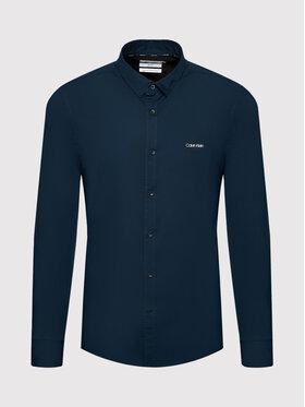 Calvin Klein Calvin Klein Koszula Poplin K10K107783 Granatowy Slim Fit