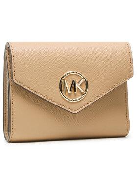 MICHAEL Michael Kors MICHAEL Michael Kors Malá dámská peněženka Carmen 34S1LNME6L Hnědá